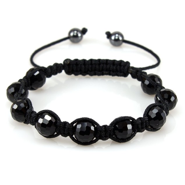 Women's Bead-Style Bracelet - Midnight Black