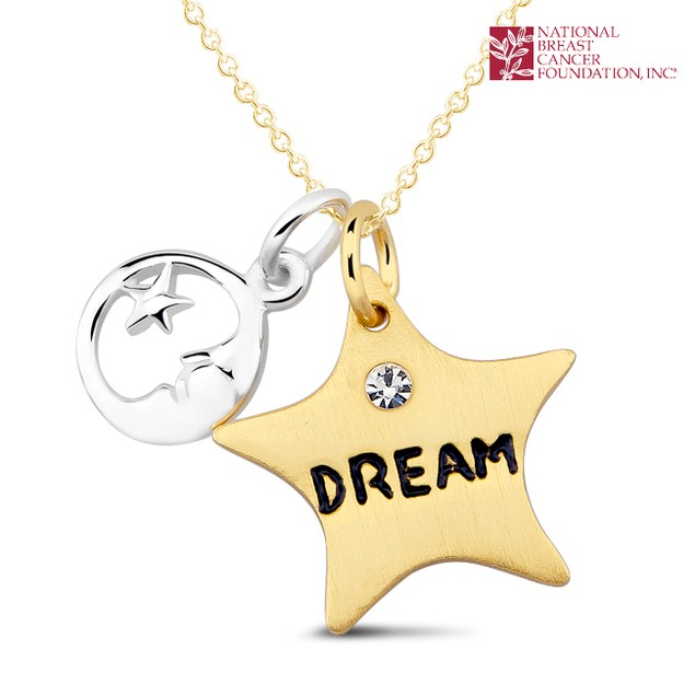 National Breast Cancer Foundation Inspirational Jewelry - Sterling Silver Dream In a Star Pendant