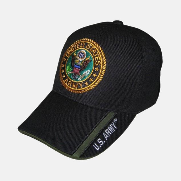 Black US Army Cap - Gold/Pattern
