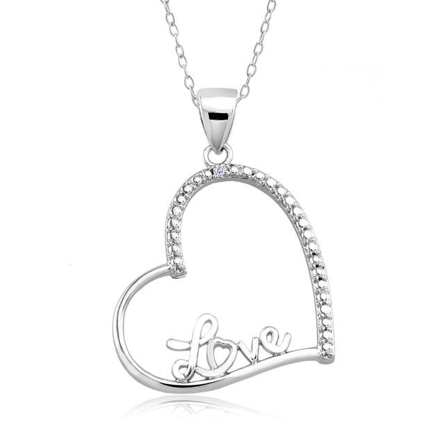 .10 Ct Diamond Accent Heart Necklace - Fancy Heart