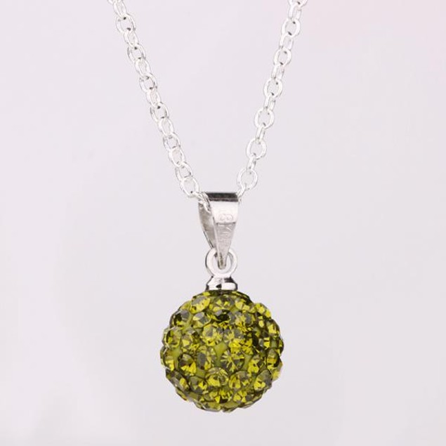 Solid Austrian Stone Pendant - Green