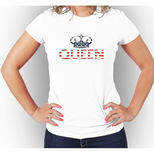 Queen USA Flag Women's Graphic T-Shirt