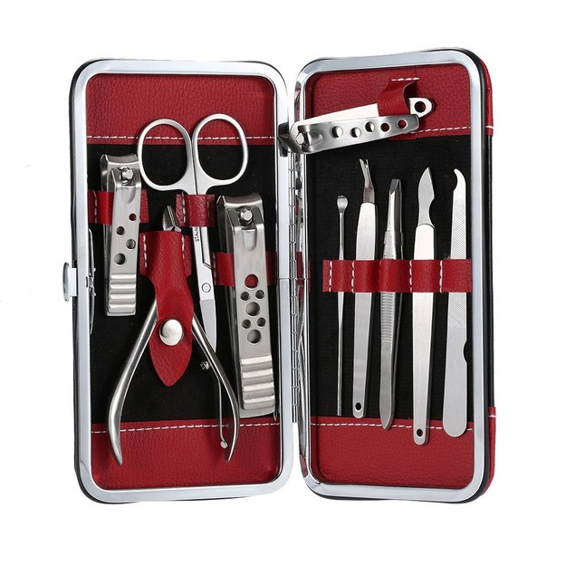 10 Piece Beauty Bon® Stainless Steel Mani/Pedi Set