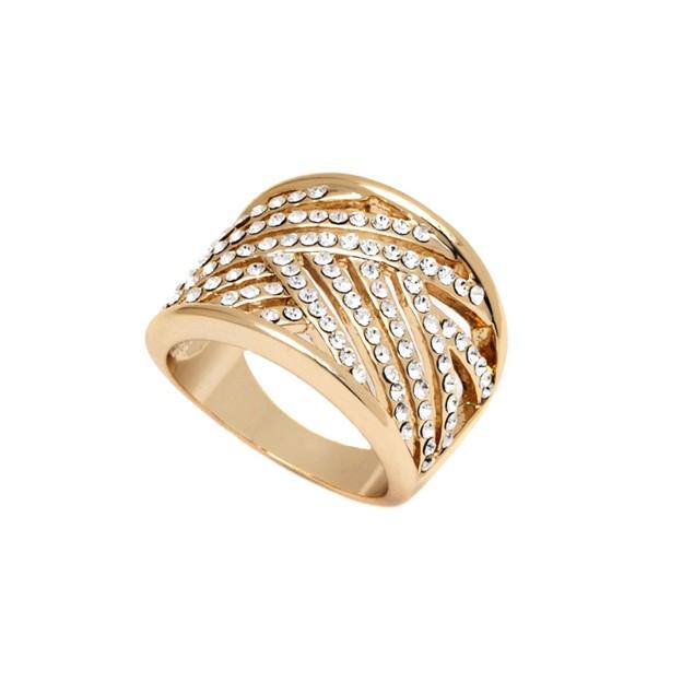 Gold and Swarovski Elements Ring