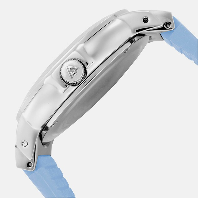 Swiss Legend Women's Mother of Pearl Blue Silicone