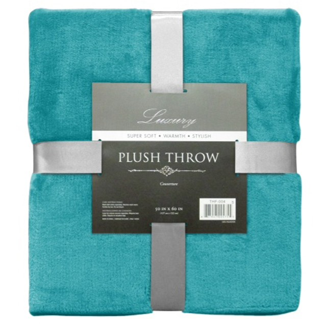 Ultra-Soft Plush Throw - Assorted Colors