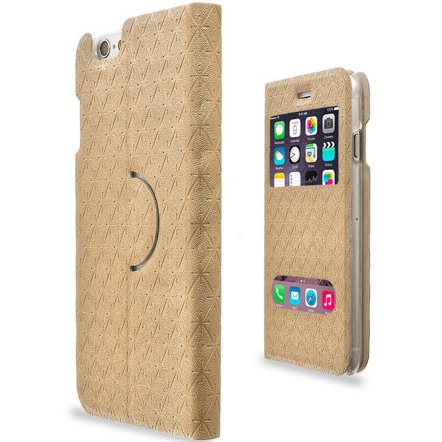 Apple iPhone 6 (4.7) Slim Wallet Flip Case Double Window Cover
