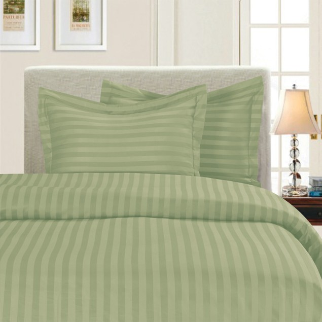 3 Piece Elegant Comfort 1500 Series Damask Stripe Egyptian Duvet Cover Set