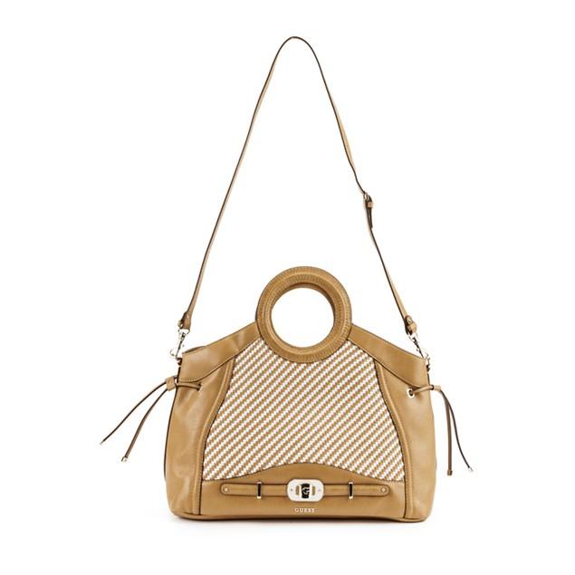 Guess  Mauritius Camel & White Carryall Handbag