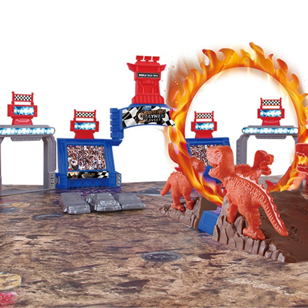 54 Piece Monster Truck Mayhem Friction Play Set - 2-Pack Ford