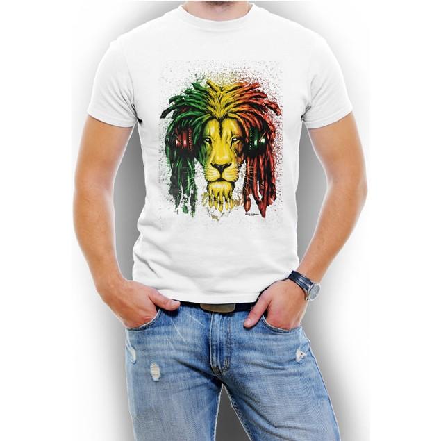 """""""Jamaica Lion"""" Men T-Shirt Assorted Colors"""