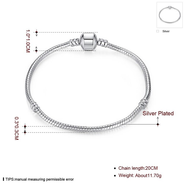 The Original Plain Silver Bracelet