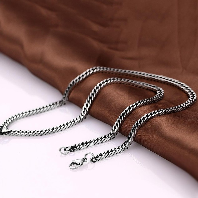 Alpha Steel Milan Inspired Stainless Steel Necklace