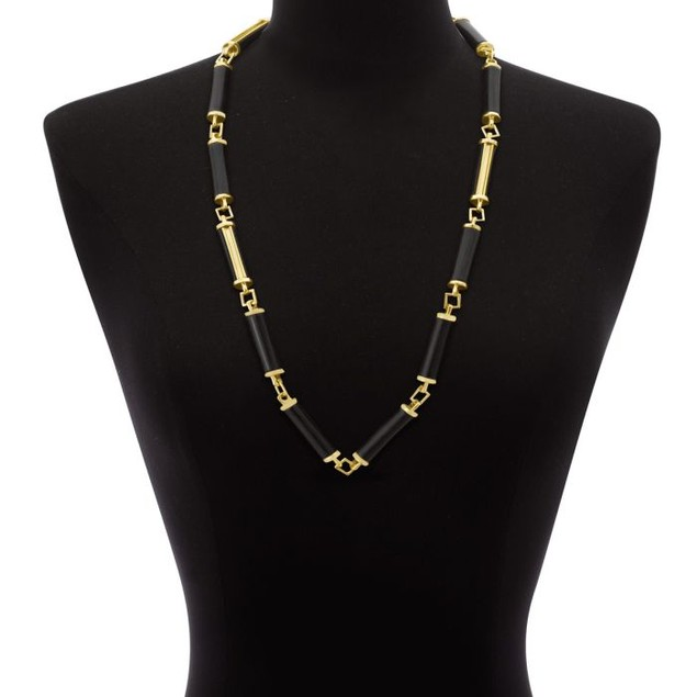 Black Pillar Necklace