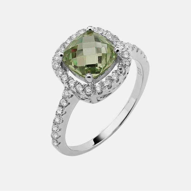 Sterling Silver Birthstone Ring - August