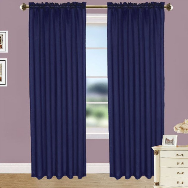 4-Pack: Elegant Curtain Panels with Rod Pocket