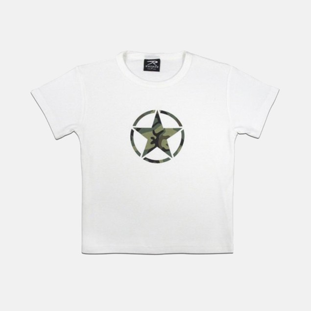 "Girls White ""Star"" T-shirt"