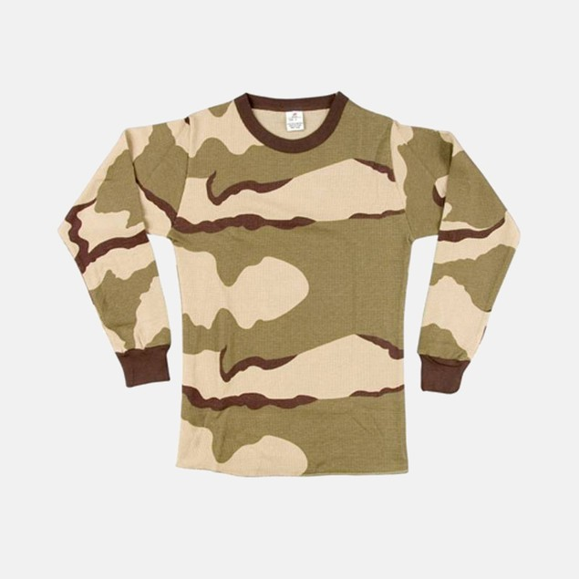 Long-Sleeve Tricolor Camo Thermal Top by Rothco