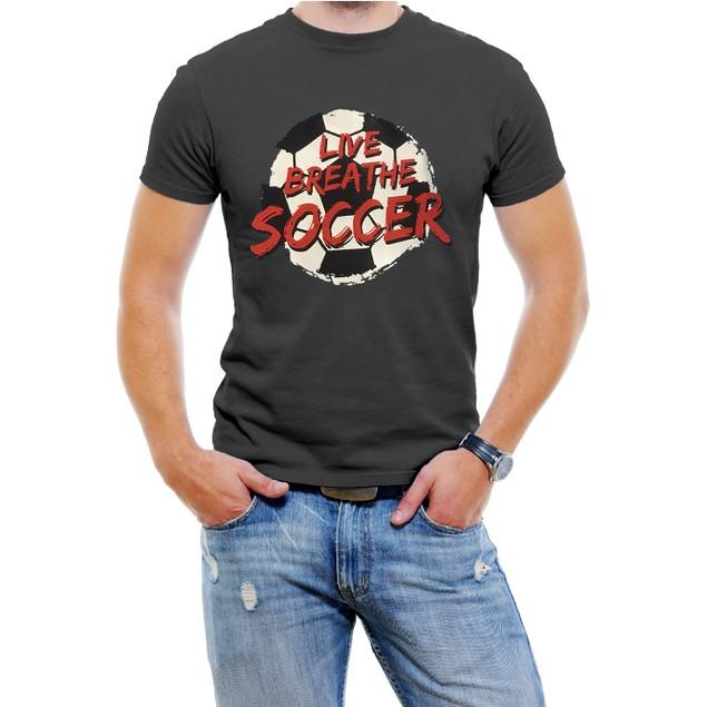 """""""Live Breathe Soccer"""" Men's T-Shirt"""
