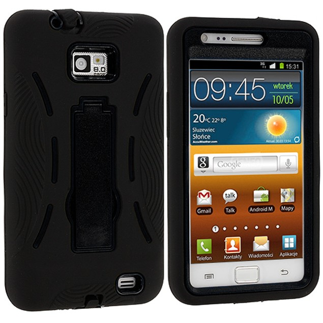 Samsung Galaxy S2 i9100 Hybrid Heavy Duty Armor Case Cover with Stand