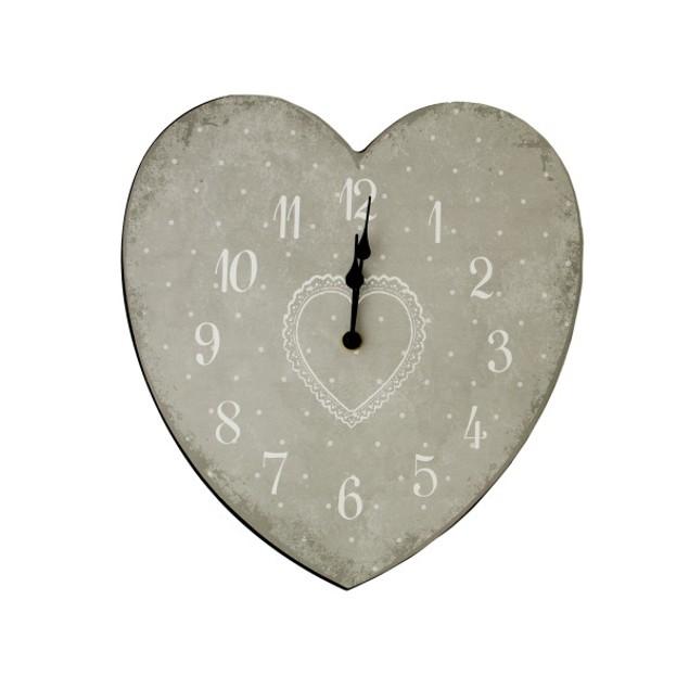 Heart Shape Wall Clock
