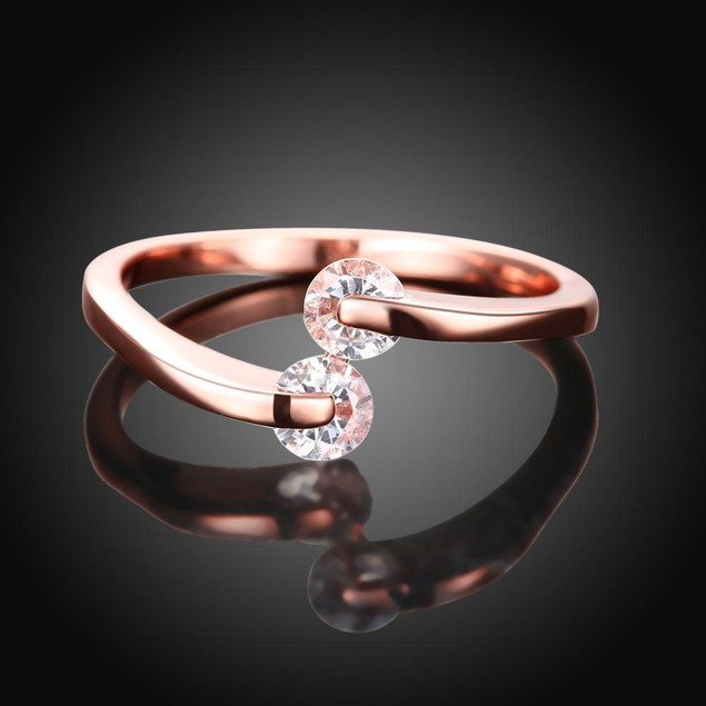 Love Comet Rose Gold Plated Ring
