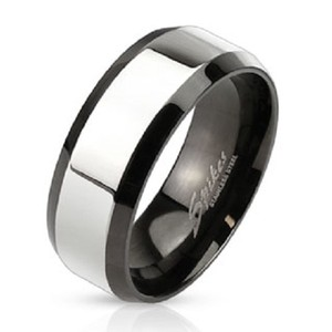 Faded Style Stainless Steel Comfort Fit Mens Band