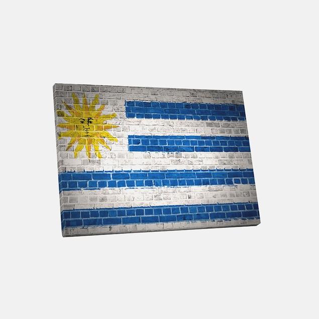 Vintage Uruguay Flag Canvas Print