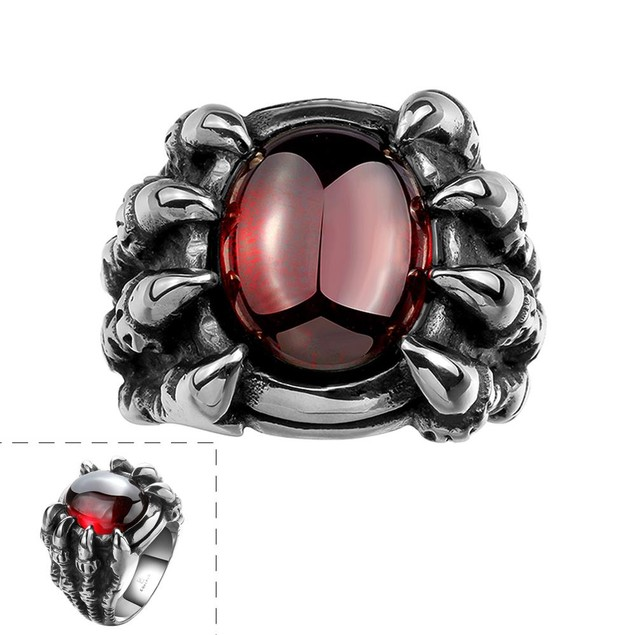 Ruby Gem Stainless Steel Ring