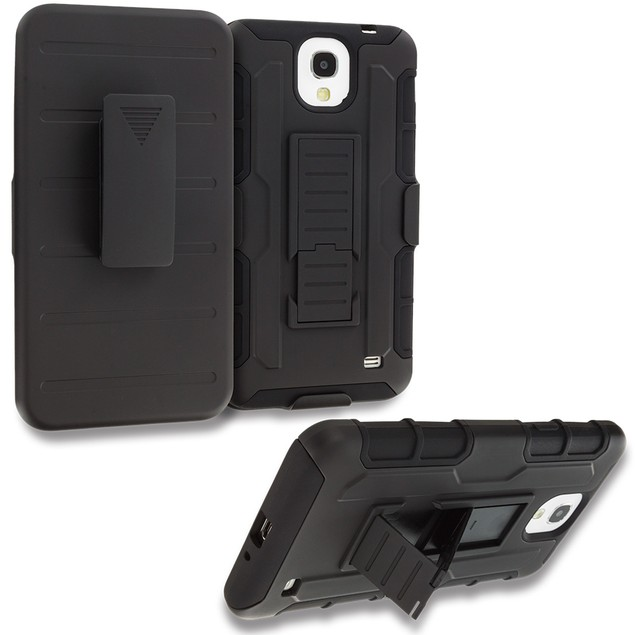 Samsung Galaxy Mega 2 Hybrid Heavy Duty Case Cover Robot Holster