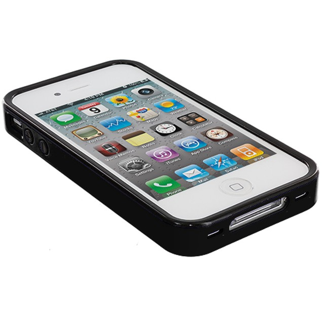 Apple iPhone 4 Hybrid TPU Bumper Case Cover