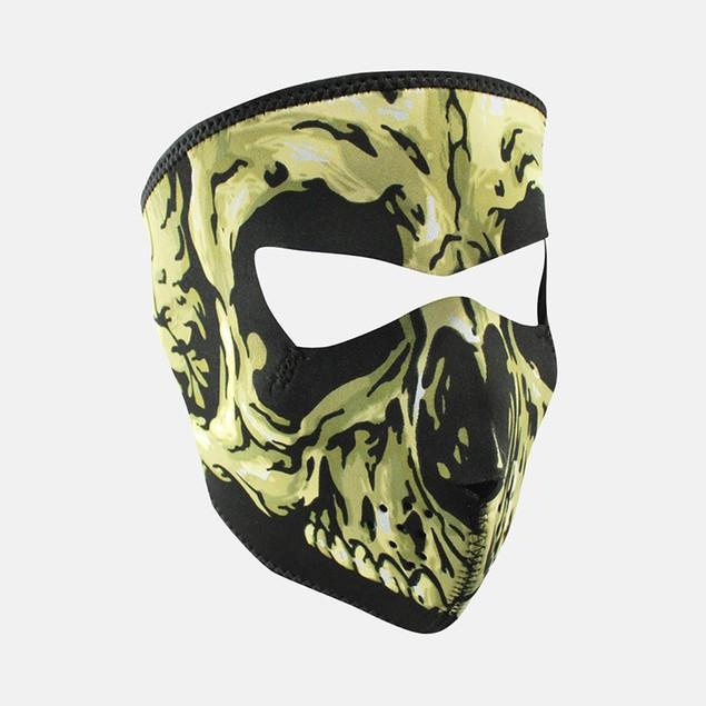 Yellow Skull Graphical Neoprene Full Face Mask