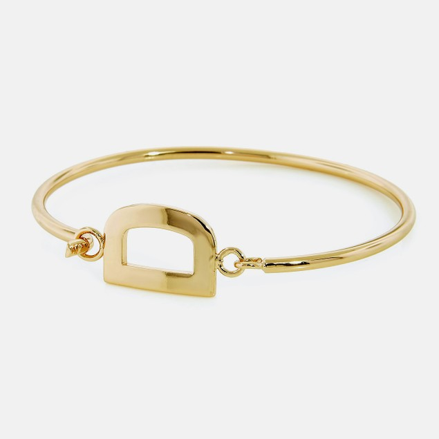 "Bronzo Lusso Initial ""D"" Bangle Bracelet"