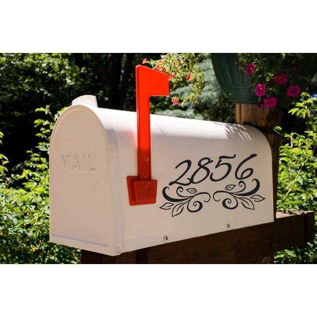 Leafy Border Mailbox Decal Design 59