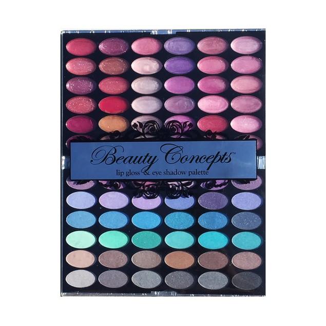 Beauty Concepts Lip Gloss & Eye Shadow Palette