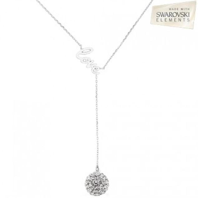 Love Y-Necklace with Swarovski Elements