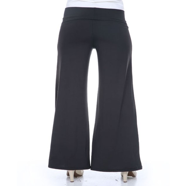 White Mark Black Plus Size Palazzo Pants