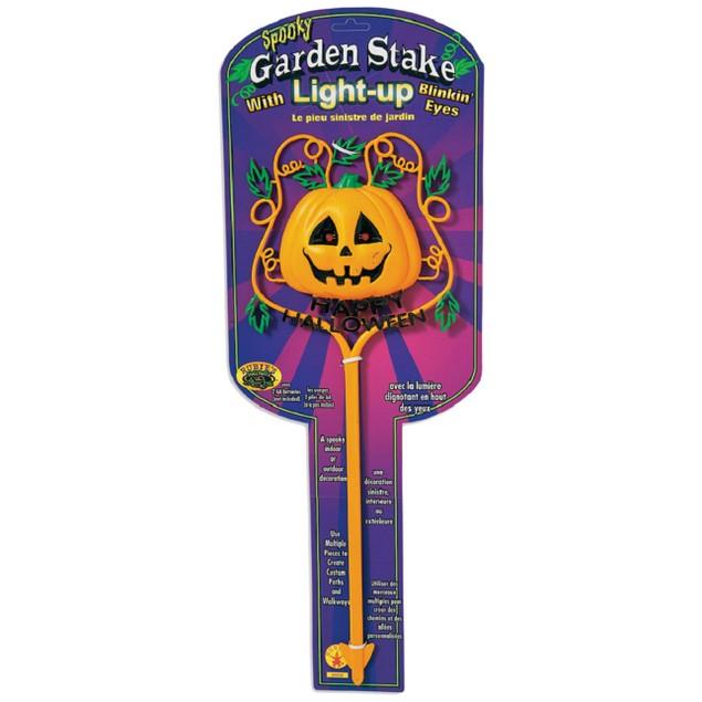 Light-Up Pumpkin Halloween Lawn Stake