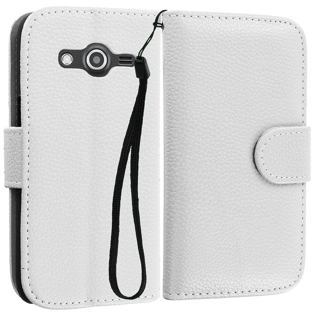 Samsung Galaxy Avant G386 Wallet Pouch Case Cover with Slots