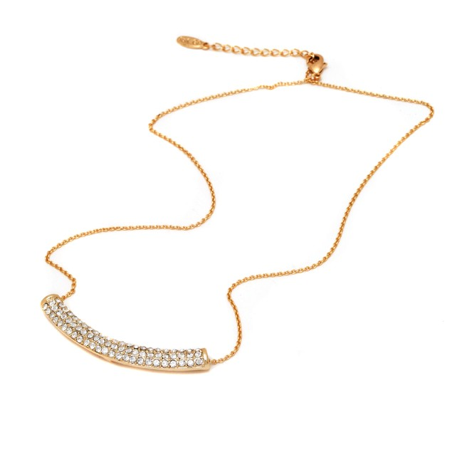 Gold and Swarovski Elements Necklace