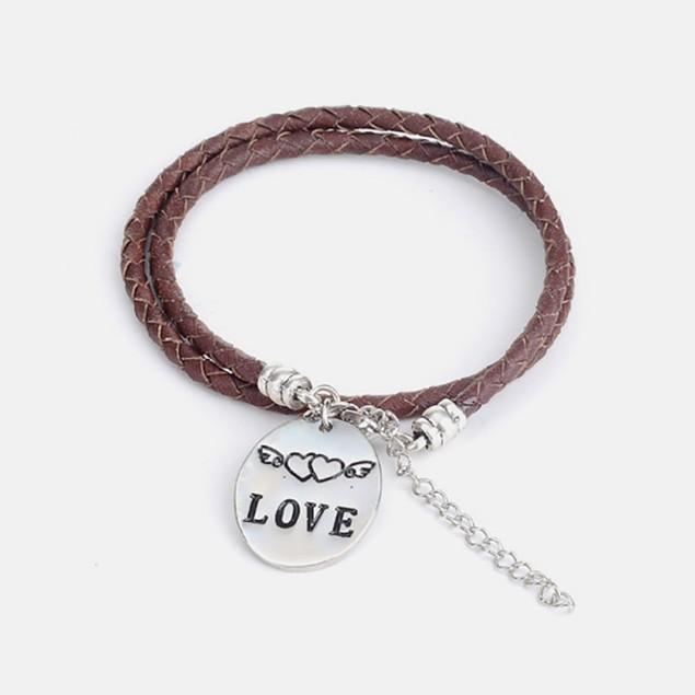Love -Hand Stamped Bracelet