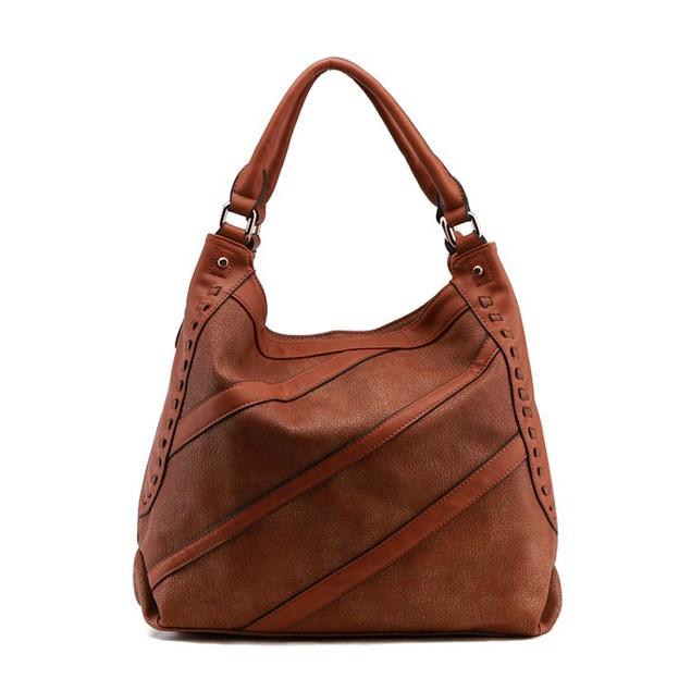 MKF Collection Cross Stripe Hobo Bag