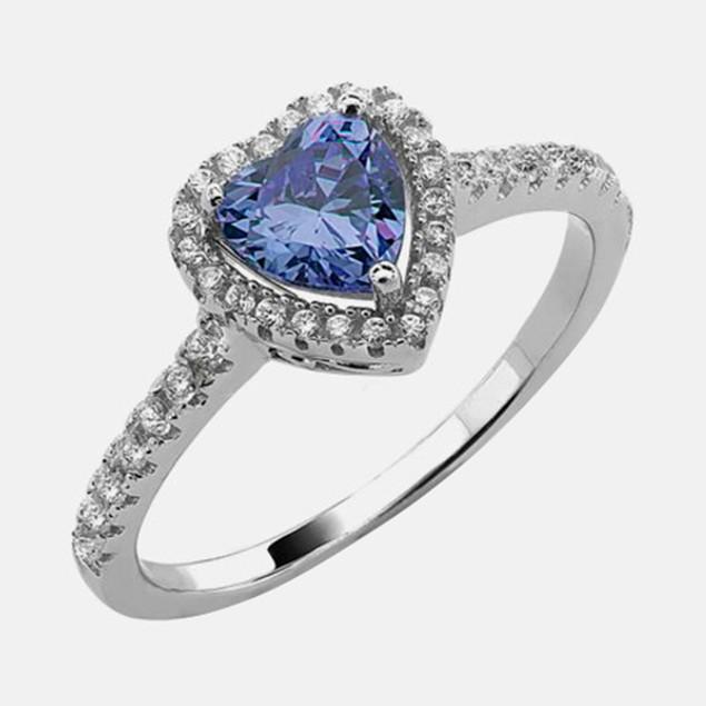 .925 Sterling Silver Birthstone Ring - September