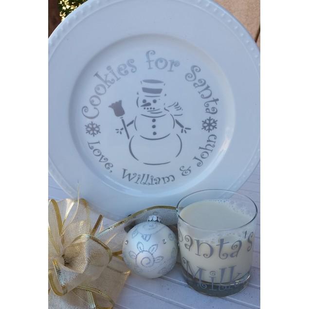 Cookies & Milk for Santa Decals