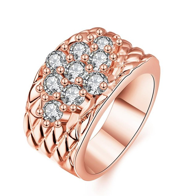 Rose Gold Plated Classic Royalty Inspired Ring