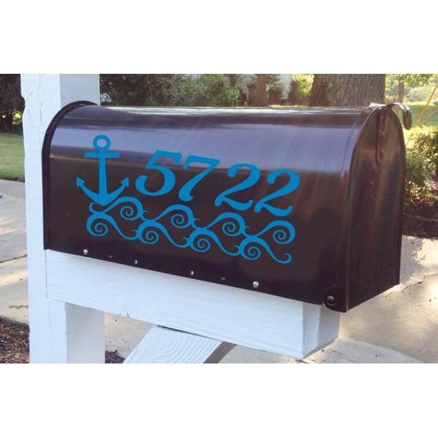 Anchor Vinyl Mailbox Decal Design 53