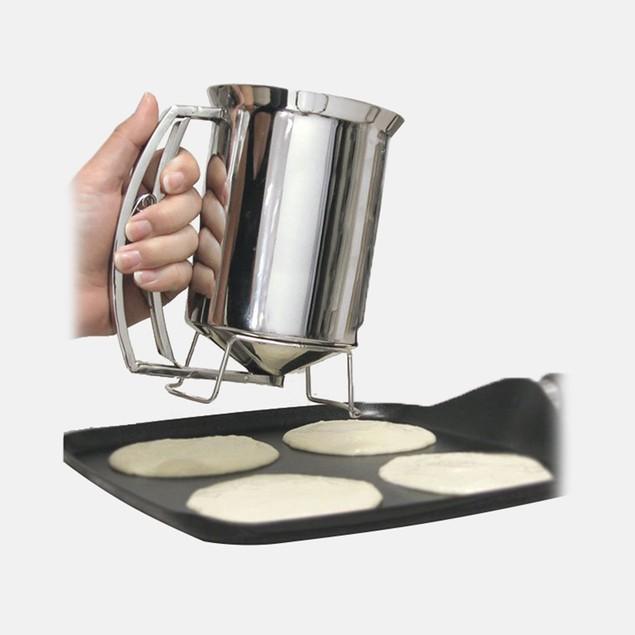 Pancake Batter Dispenser- Gourmet Stainless-Steel Pourer by Chef Buddy
