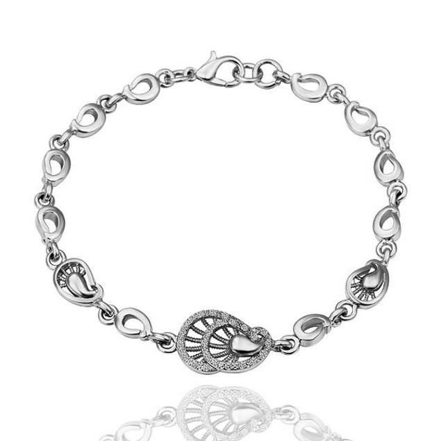 Petite Seashell White Gold Plated Bracelet