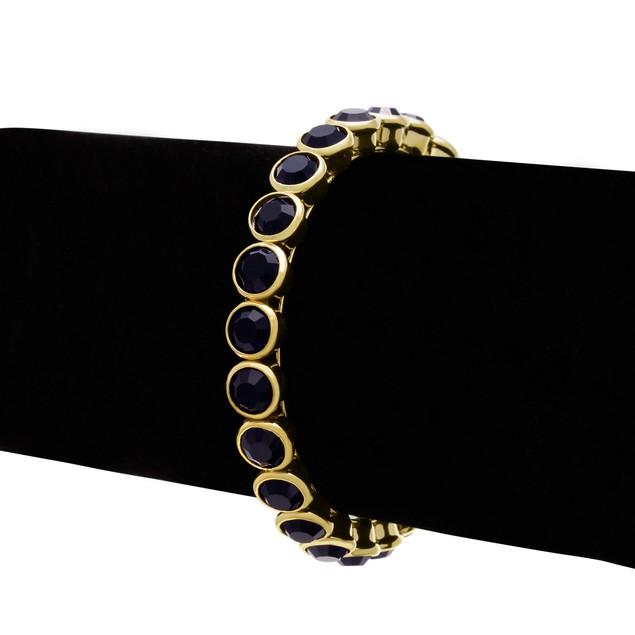 10ct Crystal Bezel Set Bangle Bracelet