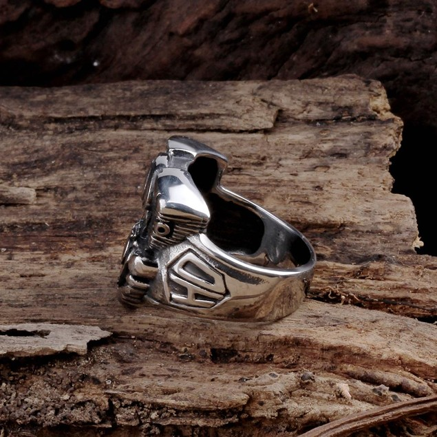 Abstract Eyeball Stainless Steel Ring